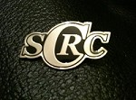 BLACK AND CHROME SCRC VEST PIN
