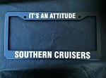 SOUTHERN CRUISERS CAR TAG FRAME