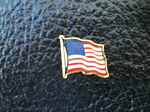 USA FLAG VEST PIN