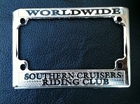 SOUTHERN CRUISERS MOTORCYCLE TAG FRAME